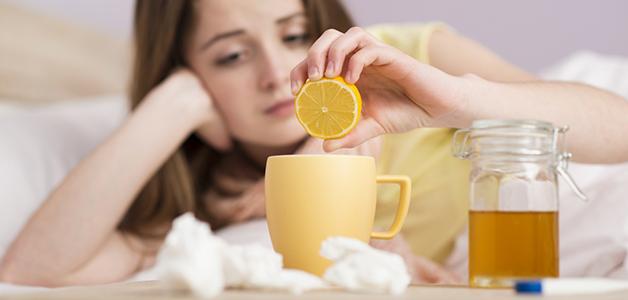 Чай с лимоном при простуде польза