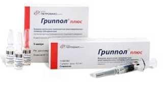 Вакцина от гриппа гриппол плюс инструкция