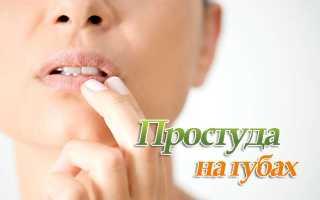 Средство от простуды на губах быстрого действия