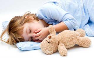 Кашель у ребенка когда спит