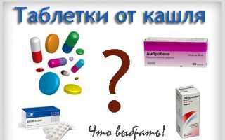 Сухой кашель лечение препараты