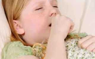 Сильный мокрый кашель у ребенка
