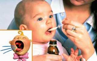 Сухой кашель у грудничка чем лечить